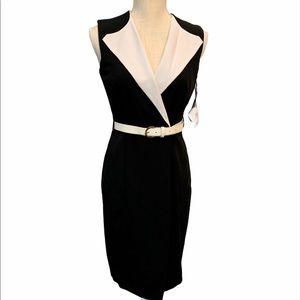Calvin Klein wrapped sheath dress NWT